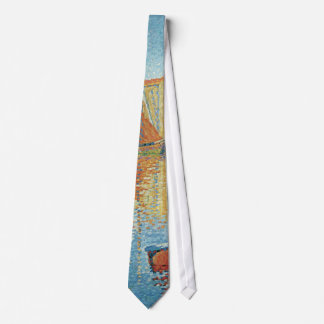 Vintage Pointillism, The Red Buoy by Paul Signac Tie