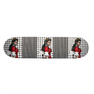 Vintage & Poised Young Lady 19.7 Cm Skateboard Deck