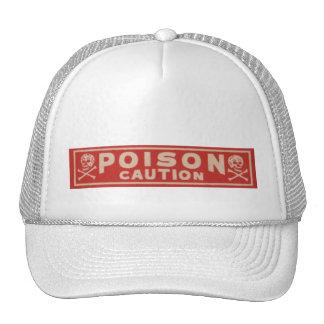 Vintage Poison Label Trucker Hat