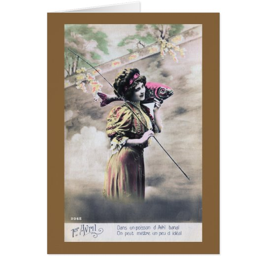 vintage Poisson d'avril Card