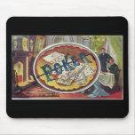 Vintage Poker Mens Smoking Room Gambling Mouse Pad
