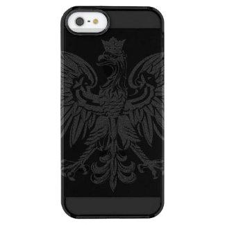 Vintage Poland Flag Clear iPhone SE/5/5s Case