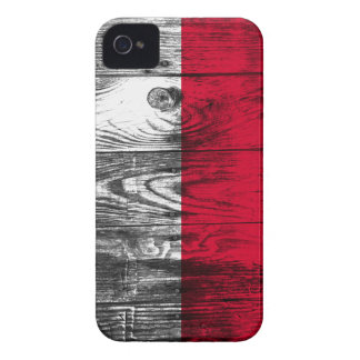 Vintage Poland national flag wood iPhone 4 coverin iPhone 4 Case-Mate Case
