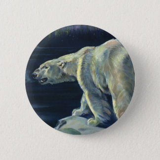 Vintage Polar Bear, Arctic Marine Life Animals 6 Cm Round Badge