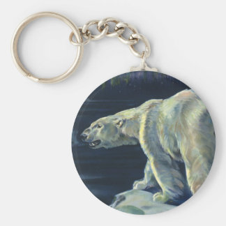 Vintage Polar Bear, Arctic Marine Life Animals Key Ring