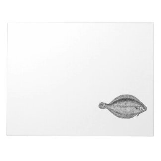 Vintage Pole Flounder Fish Personalized Template Notepad