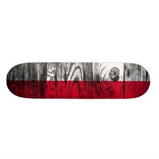 Vintage Polen National Flagge Holz Skateboard Individuelle Skateboarddecks