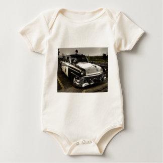 Vintage Police Car Baby Bodysuit