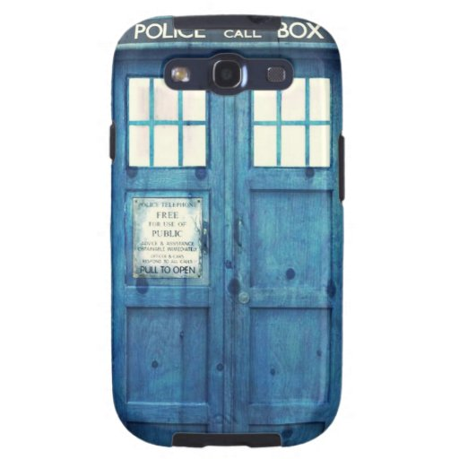 Vintage Police phone Public Call Box Galaxy SIII Cases