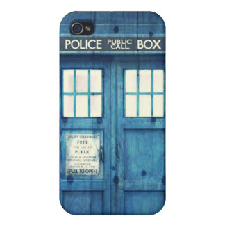 Vintage Police phone Public Call Box iPhone 4 Covers