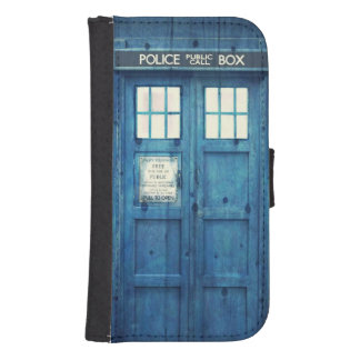 Vintage Police phone Public Call Box Samsung S4 Wallet Case
