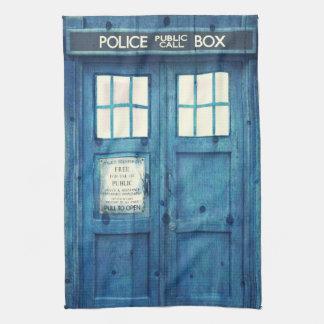 Vintage Police phone Public Call Box Tea Towel