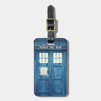 Vintage Police phone Public Call Box Travel Bag Tag