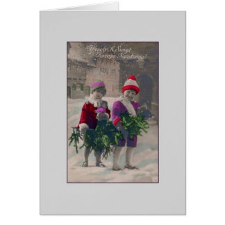 Vintage Polish Christmas Greeting Card