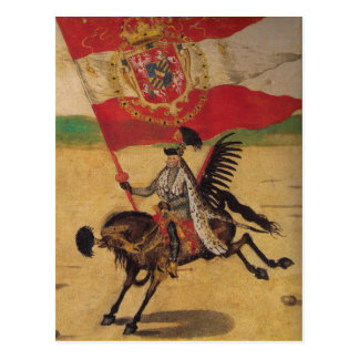 Vintage Polish Flag Postcard