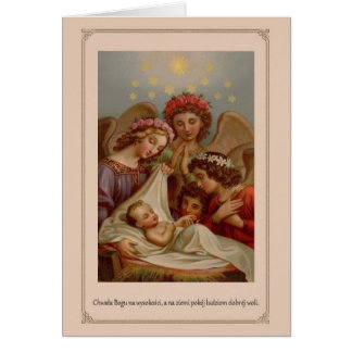 Vintage Polish Religious Christmas Card