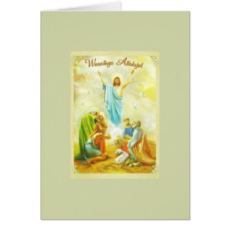 Vintage polish easter gifts t shirts art posters other gift vintage polish religious easter greeting card negle Gallery
