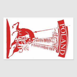 Vintage Polish Winged Hussar Rectangular Sticker