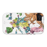 Vintage Political Cartoon Map of Europe (1877) iPhone 4/4S Covers
