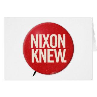 Vintage Political Richard Nixon Button Nixon Knew Greeting Cards