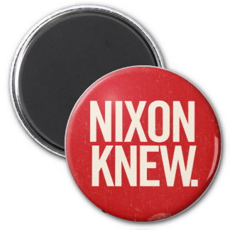 Vintage Political Richard Nixon Button Nixon Knew Fridge Magnet