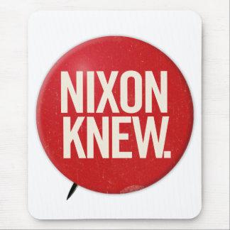 Vintage Political Richard Nixon Button Nixon Knew Mouse Pad
