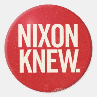 Vintage Political Richard Nixon Button Nixon Knew Round Stickers