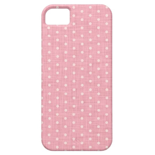 Vintage Polka dot fabric texture pattern Barely There iPhone 5 Case