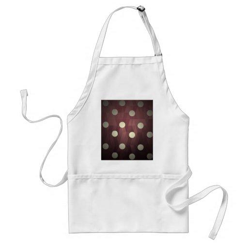 Vintage polka dots prune white retro fun hipster aprons