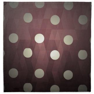 Vintage polka dots prune white retro fun hipster cloth napkins
