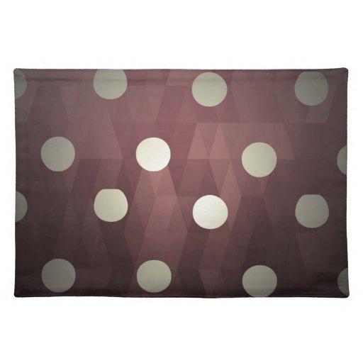 Vintage polka dots prune white retro fun hipster place mats