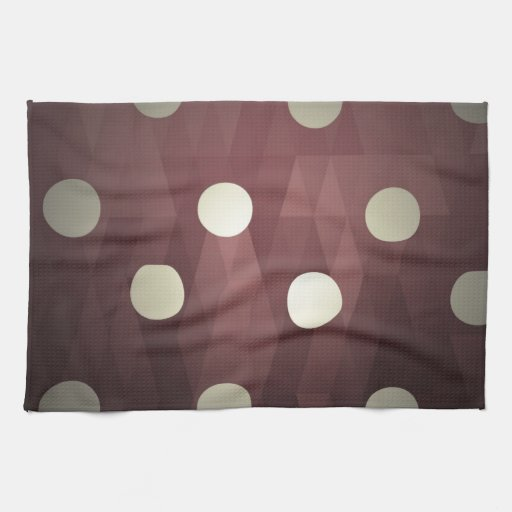 Vintage polka dots prune white retro fun hipster kitchen towels