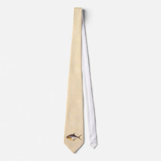 Vintage Pompano Fish- Game Fishes Template Blank Tie