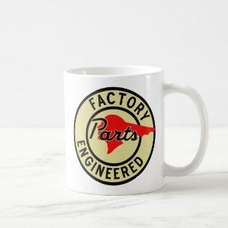 Vintage Pontiac Factory parts sign Classic White Coffee Mug