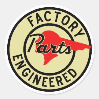 Vintage Pontiac Factory parts sign Round Stickers