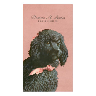 Vintage Poodle Dog Grooming Cool Animal Elegant Pack Of Standard Business Cards