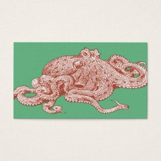 Vintage Pop Art Octopus Business Card