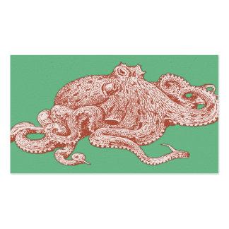 Vintage Pop Art Octopus Pack Of Standard Business Cards