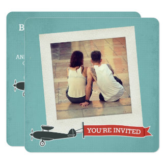 Vintage Pop Destination Wedding Invitation