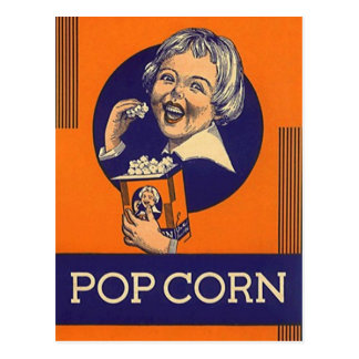 Vintage Popcorn Movie NIght Party Invite Postcards