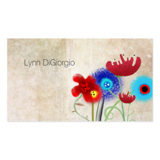 Vintage Poppies Blooming Pack Of Standard Business Cards