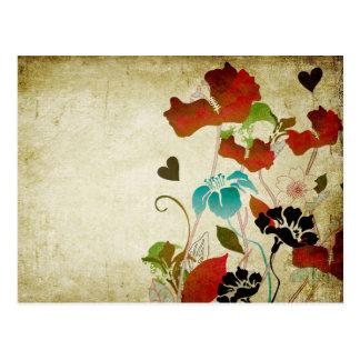Vintage Poppies Postcard