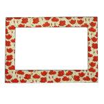 Vintage Poppies Wallpaper Frame Magnet