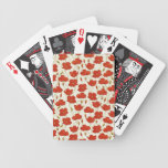 Vintage Poppies Wallpaper Playing Cards