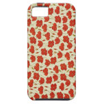 Vintage Poppy Floral Wallpaper iPhone 5 Covers