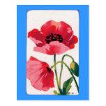 Vintage Poppy Print Post Cards