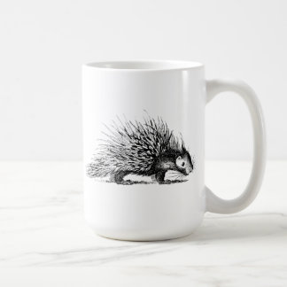 Vintage Porcupine Illustration - 1800's Porcupines Coffee Mug