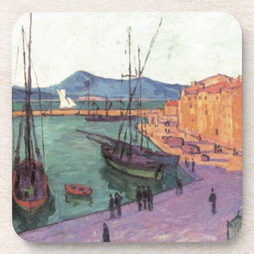 Vintage Port de Saint France Beverage Coasters