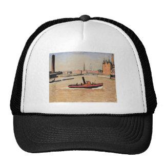 Vintage Port of Hamburg Germany Mesh Hat