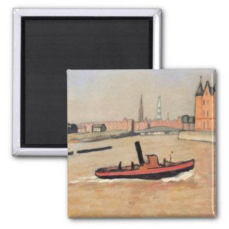 Vintage Port of Hamburg Germany Refrigerator Magnet